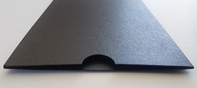 Black metallic sleeve, NZ made