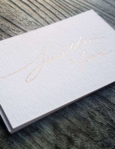 Elegant gold on textured white