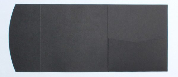 Black square pocketfold envelope