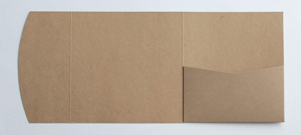 Kraft square pocketfold envelope