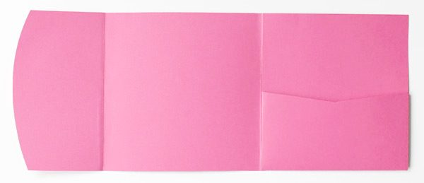 Light pink square pocketfold envelope