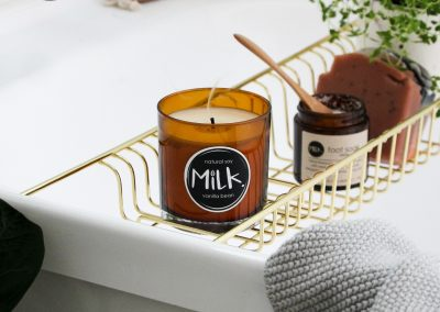 Labels printed for Studio Milk's candle range