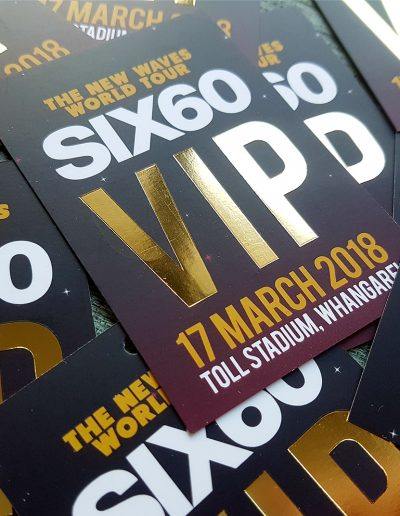 VIP Backstage Passes for Six60