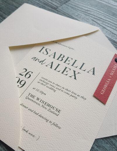 textured ivory wedding envelopes