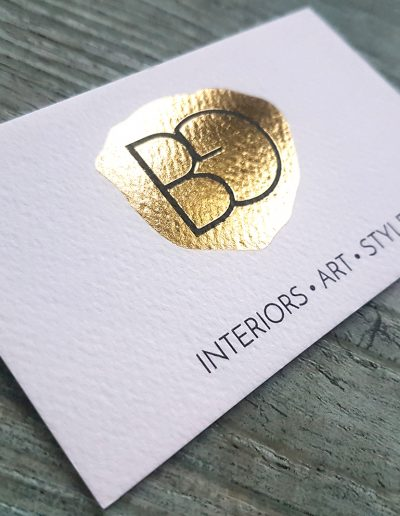 Textured foil stamping by Pinc, Auckland