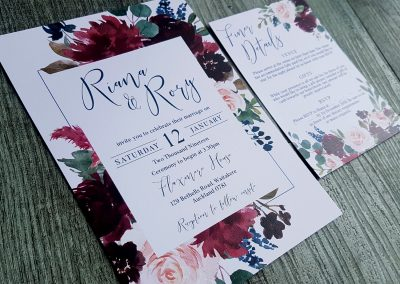 New Zealand wedding invitations