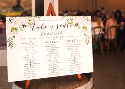 A2 wedding seating plan designed and printed by Auckland printers Pinc