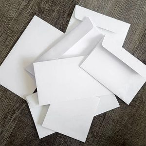 Wedding envelopes - good quality white, coloured, metallic, textured