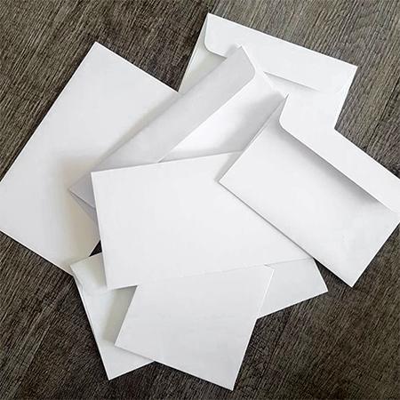 Wedding envelopes - good quality white, coloured, metallic, textured