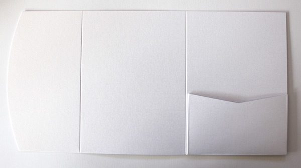 White Pocketfold Envelope to fit A6