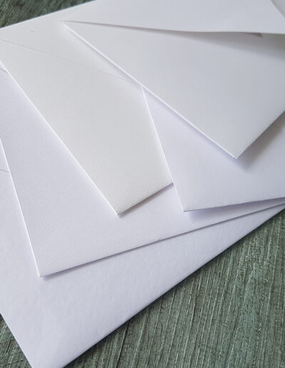 textured white embossed paper options
