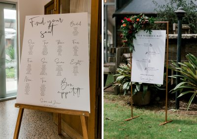 Wedding seating chart and welcome sign